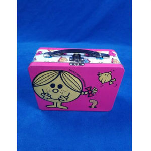 MR MEN LITTLE SUNSHINE TIN pink pail snack box F75